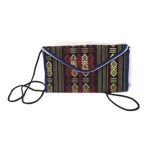 Aztec Boho Velcro Shoulder Bag Pouch Wallet Clutch